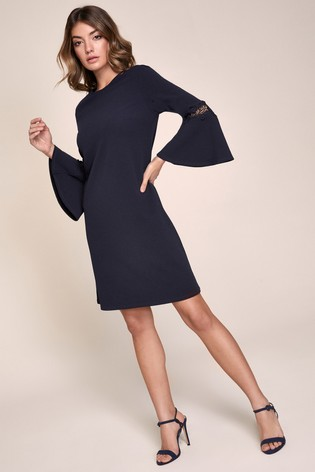 Lipsy Black Lace Shift Dress