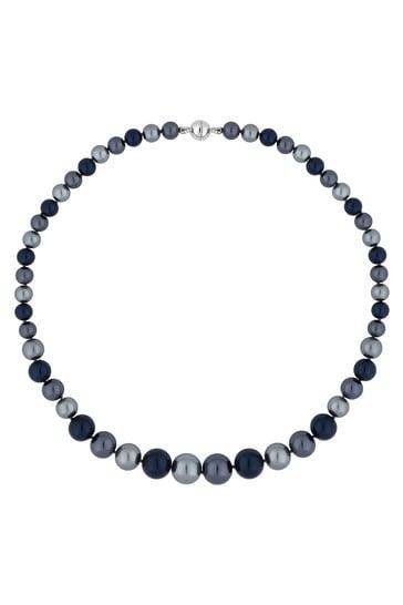 Jon Richard Blue Pearl Multi Tonal Magnetic Necklace