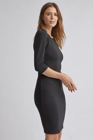 Dorothy Perkins Black Three Quarter Sleeve Bodycon Dress