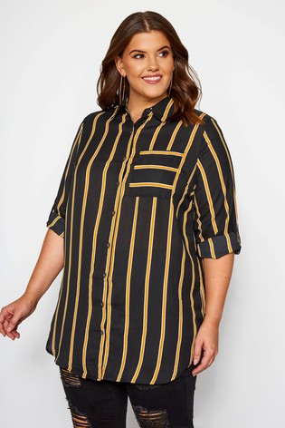 Yours Curve Boyfriend Striped Shirt