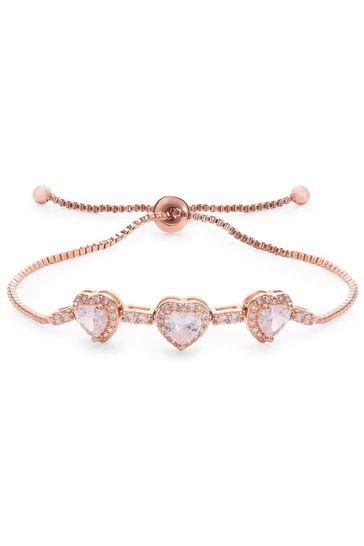 Jon Richard Silver Plated Crystal Toggle Bracelet