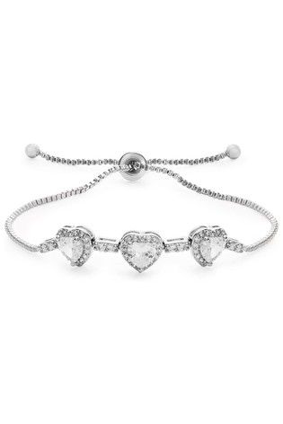 Jon Richard Silver Plated Plated Crystal Toggle Bracelet