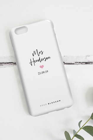 Personalised Mrs Phone Case By Koko Blossom