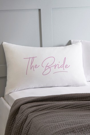 Personalised Bride Pillowcase By Koko Blossom