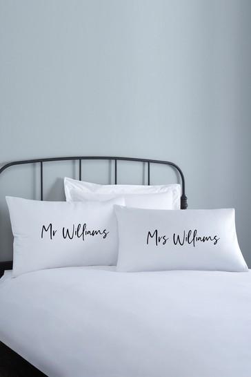 Personalised Lipsy Couples Pillowcase Set By Koko Blossom
