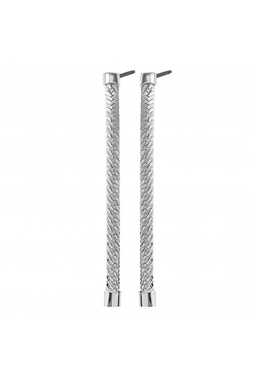 Simply Silver Sterling Silver 925 Polished Herringbone Chain Drop Earring