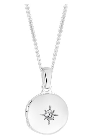 Simply Silver Sterling Silver 925 Mini Locket Necklace