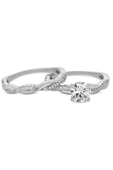 Simply Silver Sterling Silver 925 Cubic Zirconia Infinity Ring Set