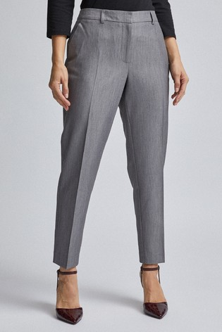 Dorothy Perkins Grey Naple Ankle Trousers