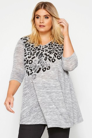 Yours Curve Leopard Print Swing Top