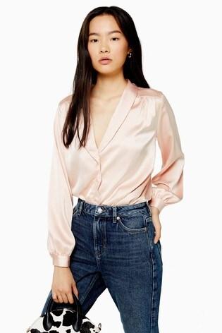 Topshop Plain Scallop Shirt