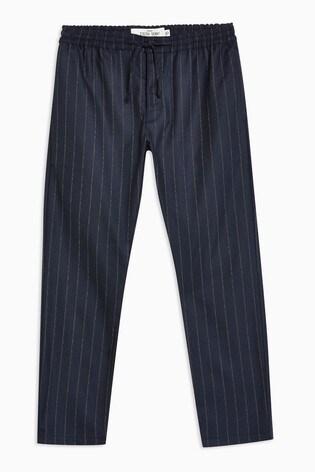 Topman Blue Skinny Stripe Trousers