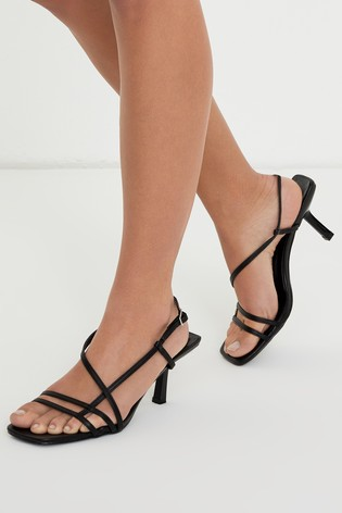 Low Strappy Heels