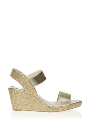 Lipsy Gold Low Espadrille Wedges