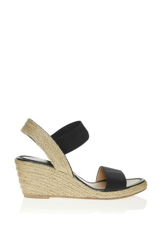 Lipsy Black Low Espadrille Wedges