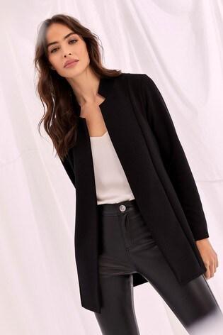 Lipsy Rib Jersey Crombie Jacket