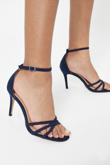 Lipsy Navy Barely There Heeled Sandal