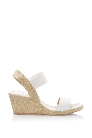 Lipsy White Low Espadrille Wedges