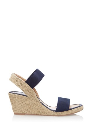 Lipsy Navy Low Espadrille Wedges