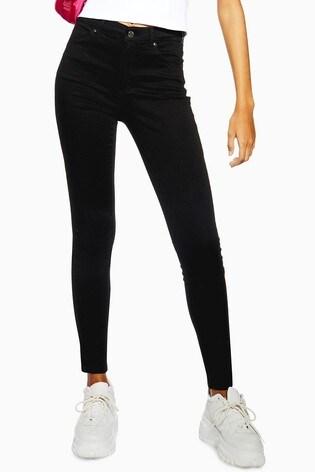 "Topshop Black Leigh Jeans 30"" Leg"