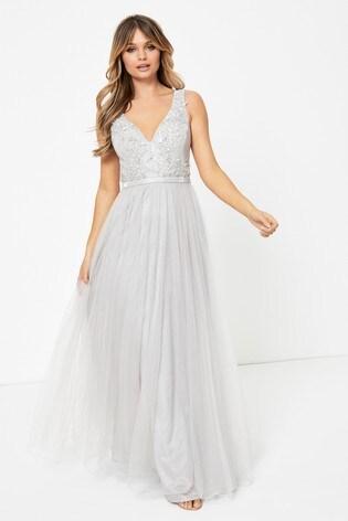 Forever Unique Embellished Top Maxi Dress