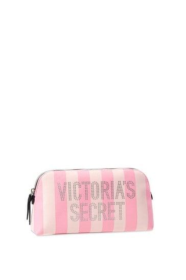 Victoria's Secret Signature Stripe Beauty Bag