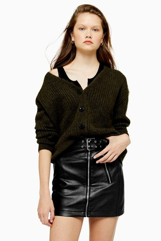 Topshop Super Soft Ribbed Cardigan