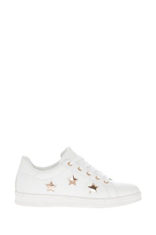 Lipsy Girl Lace Up Star Trainer
