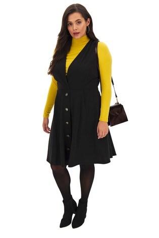 Simply Be Wrap Pinafore Dress
