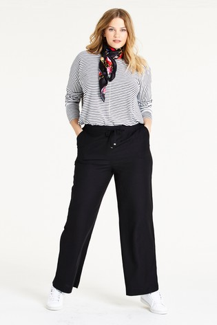 Simply Be Easy Care Linen Mix Regular Trousers
