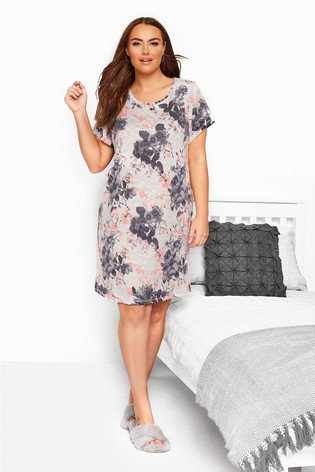 Yours Curve Short Sleeve Lounge Floral Nightdress