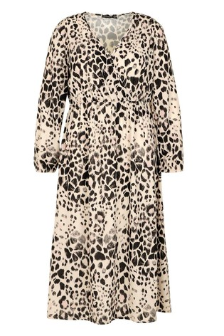 Boohoo Curve Leopard Midi Dress