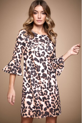 Lipsy Animal Print Printed Shift Dress