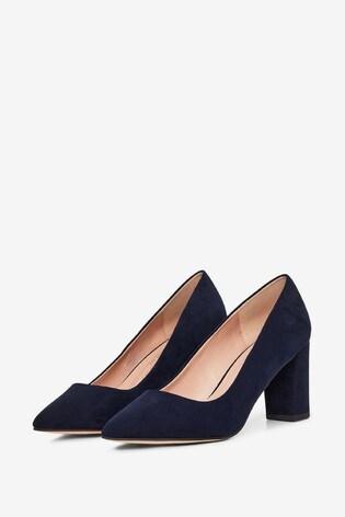 Dorothy Perkins Wide Fit Block Heel Court Shoe