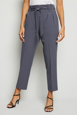 New Look Belted Paperbag Trousers