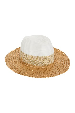 Lipsy Natural Weave Straw Fedora Hat