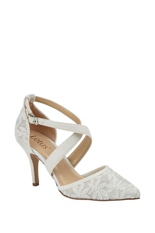 Lotus Glitter Effect Heeled Occasion Shoes