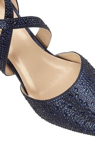 Lotus Blue Diamanté Heeled Occasion Shoes
