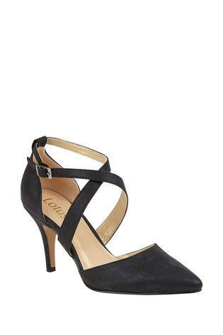 Lotus Black Heeled Occasion Shoes