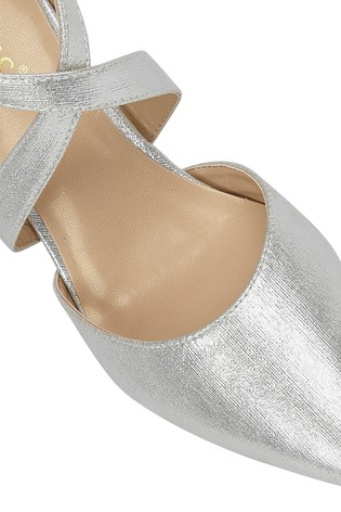 Lotus Silver Heeled Occasion Shoes