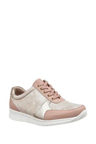 Lotus Pink Leather Comfort Casual Shoes