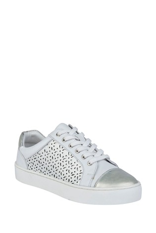 Lotus White Leather Comfort Casual Shoes