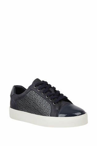 Lotus Blue Leather Comfort Casual Shoes