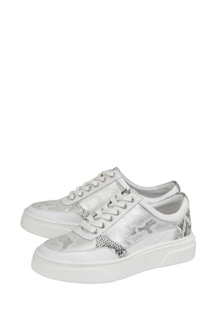 Lotus Silver Leather Comfort Casual Shoes