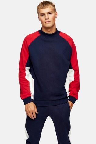 Topman Panel Oversized Sweatshirt