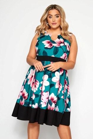 Yours Curve Floral Skater Dress
