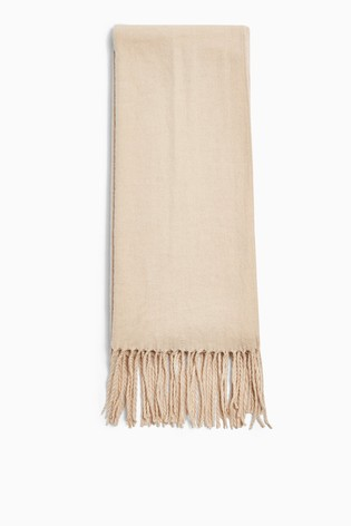 Topshop Camel Recycled Super Soft Scarf
