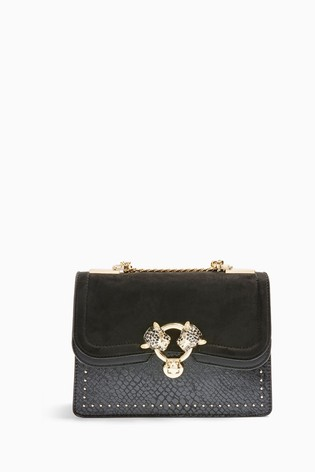 Topshop Double Panther Cross Body Bag