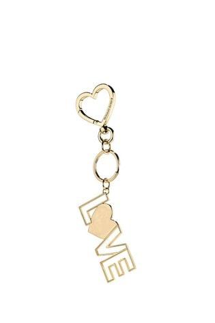 Victoria's Secret Gold XO Love Charm Keychain