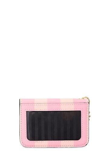Victoria's Secret Pink Signature Stripe Foldable Card Case